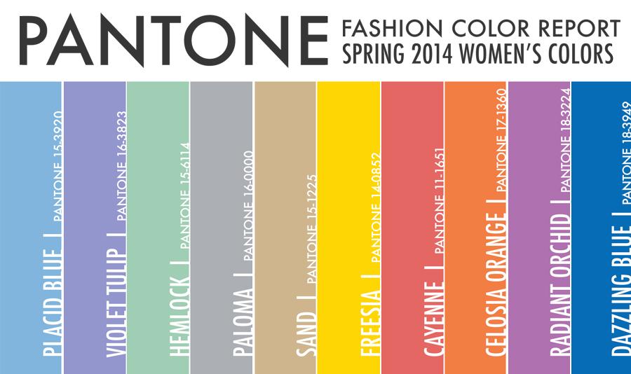 Spring 2014 Pantones