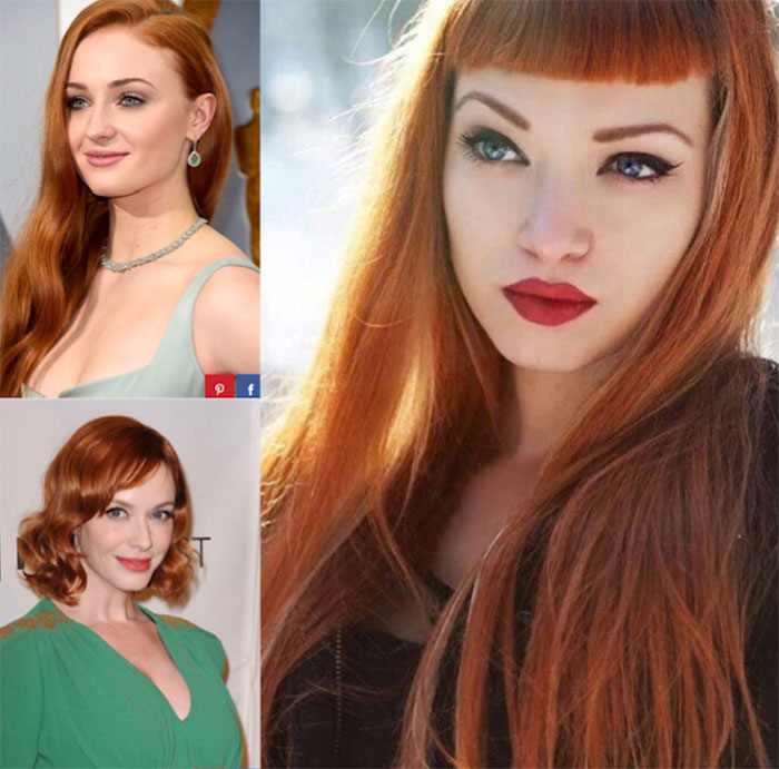 Cut: Ronze, or red-bronze hair, is a major trend.