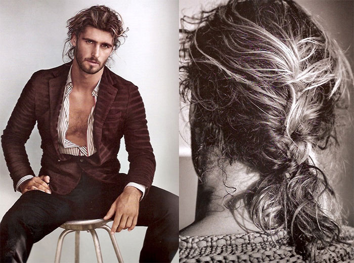 Cut: Say no to man buns and hello to tousled braids.